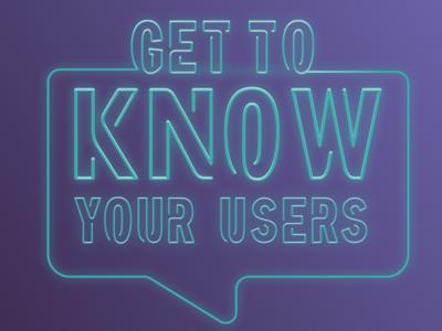 Tagline Lockup Exploration branding know your users neon lockup logo