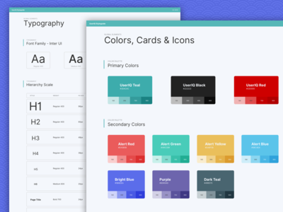 UserIQ Style Guide ui guide visual style guide design system style guide
