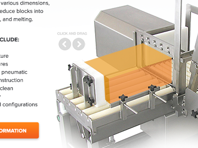 Cheese-Cutting Animation craftcms animation design manufacturing cheese interactive