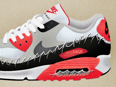 Nike Air Max II shoe nike illustration texture