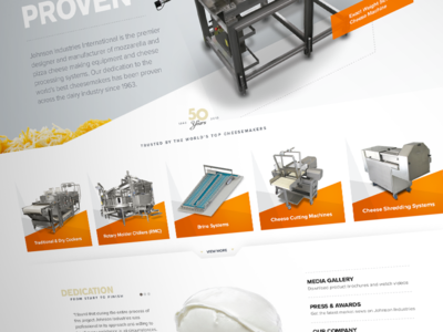 Johnson Industries Homepage Refresh craftcms manufacturing stainless gradient angles equipment