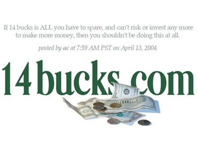 14bucks Header rebound blog logo money