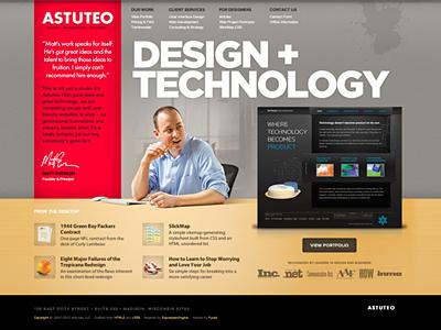 Astuteo Redesign studio homepage