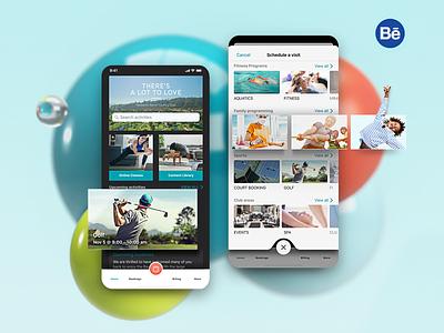 The BayClub app 3d design case study ios schedule booking interface ux apple ui