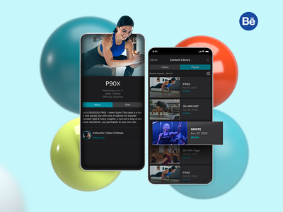 The Bay Club app ios fitness design behance ui mobile interface