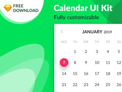 FREEBIE Calendar UI Kit