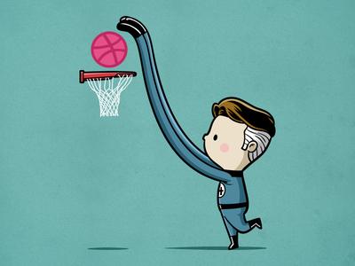 Sporty Mr Fantastic - Basketball