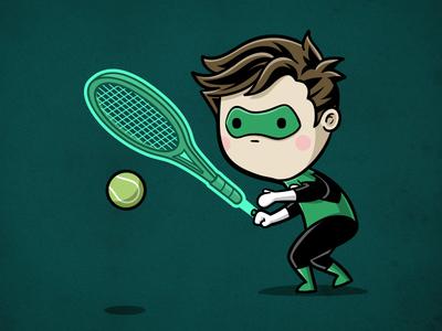 Sporty Green Lantern - Tennis