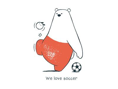 Tu and Ted - We Love Soccer tu and ted bear polar bear bunny rabbit chow hon lam art illustration storytelling story