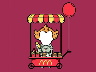 Part Time Job 041 - Fast Food Stall fast food mcdonalds it movie it cartoon part time job chow hon lam art pop culture illustration