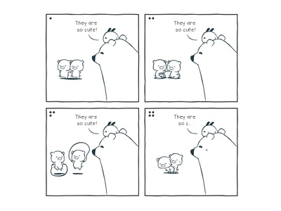 Tu and Ted - They Are So Cute storytelling illustration chow hon lam art bunny bear tu and ted cartoon fun piggy pig cute