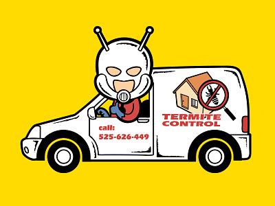 Part Time Job - Termite Control marvel movie ant man comic part time job chow hon lam art pop culture illustration