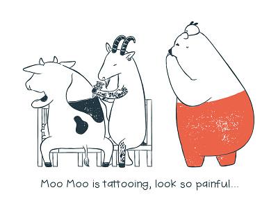 Tu and Ted - Tattoo tattoo tu and ted bear polar bear bunny chow hon lam art illustration storytelling