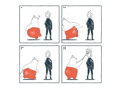 Tu and Ted - Multiple Use tu and ted webcomic webtoon line webtoon bear polar bear bunny chow hon lam art illustration illusion