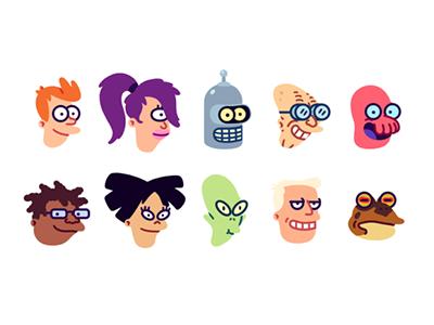 Futuramojis emoji slack futurama