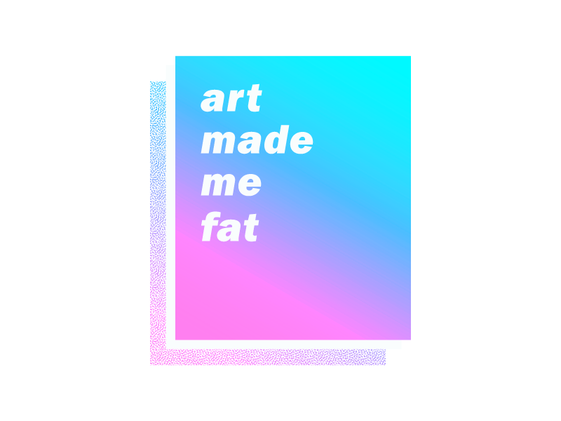 Fat gradient typography design
