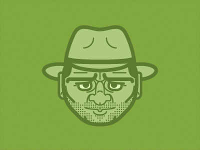 Anything but Snakes minimal pop culture character illustrator bright green vector