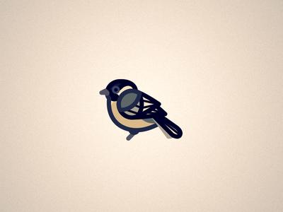 Chickadee minimal bird chickadee illustrator