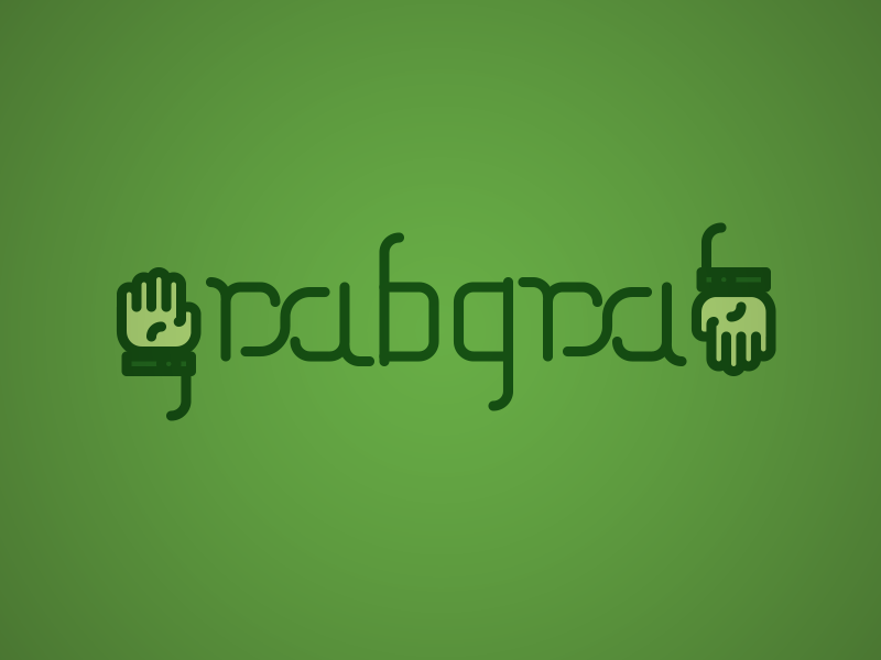 Grabgrab Logo 1 logo minimal design illustrator ambigram