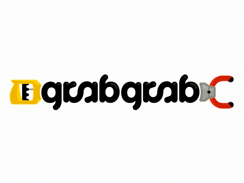 Grabgrab Final logo minimal design illustrator ambigram