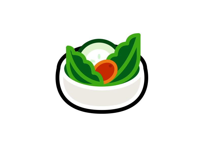 Salad salad illustrator minimal logo