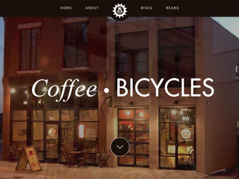 The Hub Coffee & Bikes website coffee html bikes css3