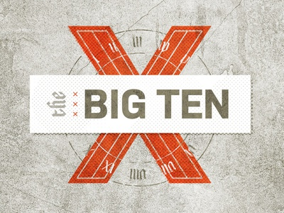 The Big Ten biblical numerals graphic design texture typography ten church sermon x