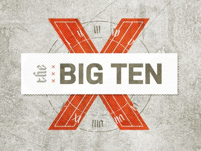The Big Ten biblical numerals graphic design texture typography ten church sermon x