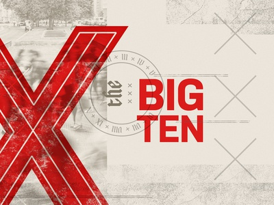 The Big Ten - v2 sermon series x collage typography texture stamp numerals biblical sermon church