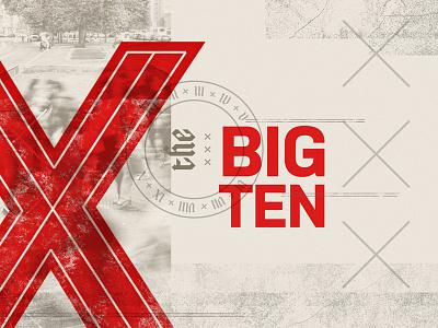 The Big Ten - v2 sermon series x collage typography texture stamp numerals biblical sermon church