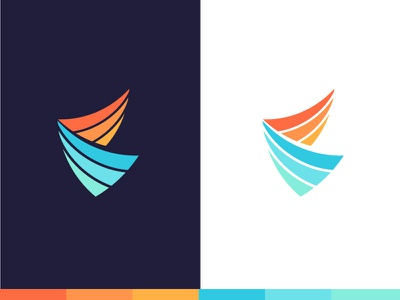 Healthcare Logo - Option 1 wings design icon bright colorful healthcare health branding brand logo