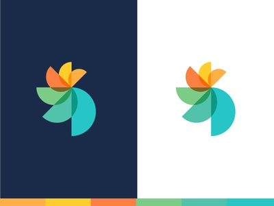 Healthcare Logo - Option 3 semicircle design icon bright colorful healthcare health branding brand logo