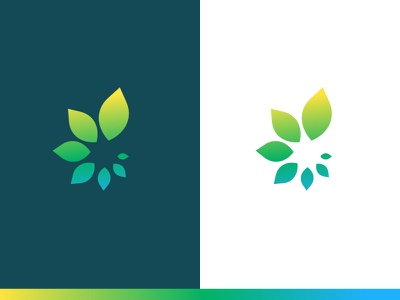Healthcare Logo - Option 4 gradient natural leaves iconography icon colorful healthcare health branding brand logo