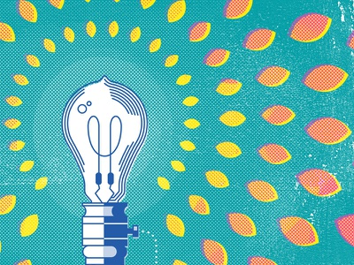 What Technology Wants texture halftone book cover poster technology illustration lightbulb