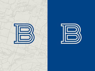 Don't worry... B happy. monogram letter vector blue education school icon iconography branding b