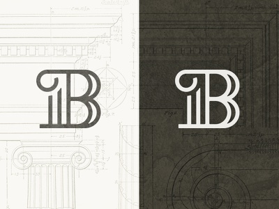 Wouldn't it B nice if we were older? architecture column monogram letter vector education school icon iconography branding b
