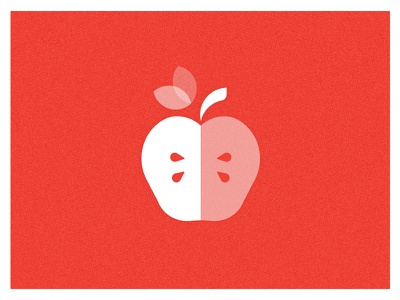 An apple a day, yada yada yada vector simple minimalist single color iconography icon apple