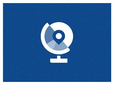 All around the world vector single color simple minimalist iconography icon globe