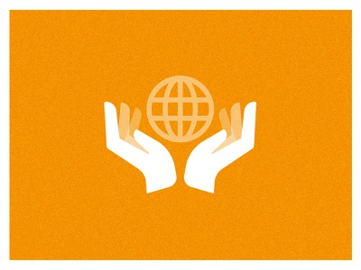 He's got the whole world... vector hands simple minimalist iconography icon globe