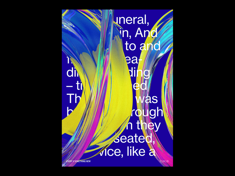 every x something new poster art poster exploration experiment graphic design