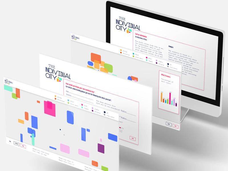 The individual Cty prototyping app design screendesign webdesign ux ui graphic design exploration experiment