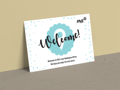 New office - welcome card