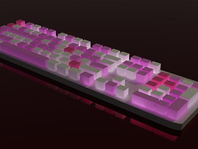 Keyboard low poly keyboard 3d blender cycles