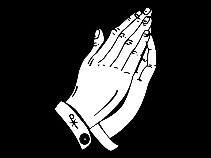Praying Hands are IN chi rho praying hands illustration