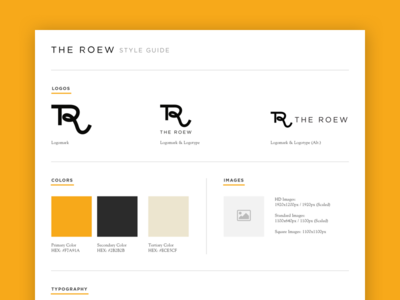 The Roew Style Guide web design ux web style guide
