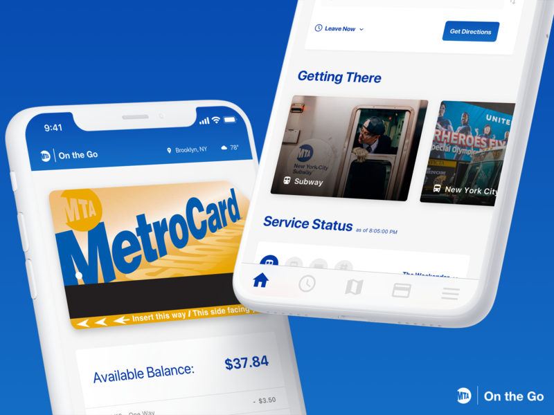 MTA On the Go apple pay nyc mta transit transportation app ux ui ui ux product design
