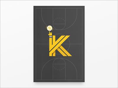 K poster challenge poster basketball k typography dockyard