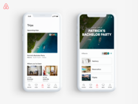 Airbnb group trips dribbble