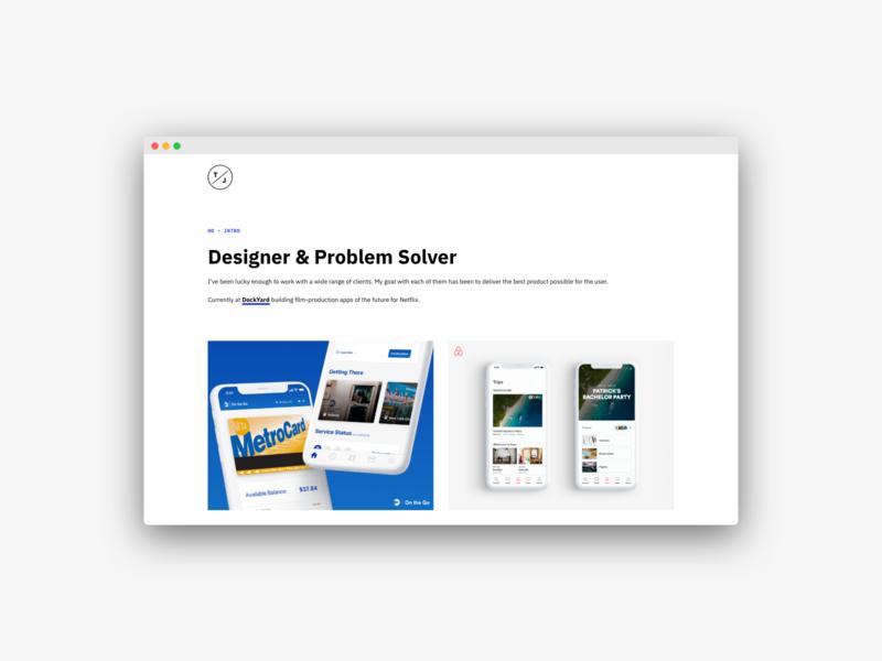 Portfolio Rework web design ux ui product design product designer portfolio