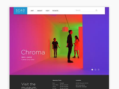 SCAD MOA Website Redesign homepage ui web design